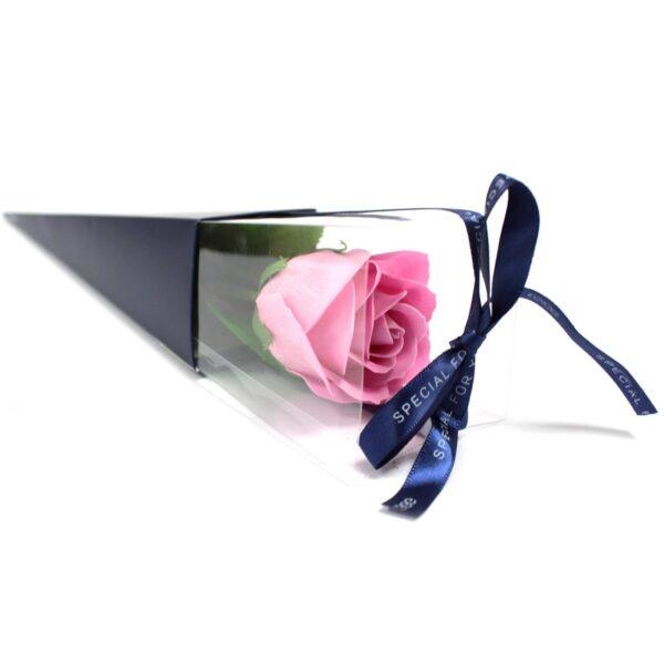 Üksik roos kinkekabis (roosa)