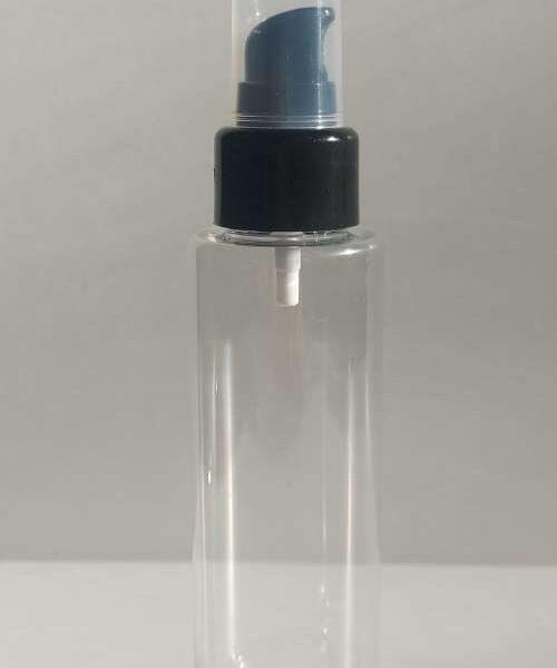 100 ml pudel musta väikese pumbaga