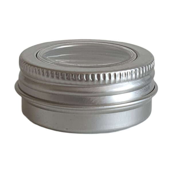 Metallpurk 15 ml aknaga