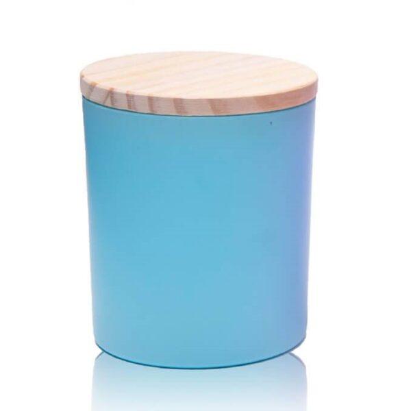 Küünlaklaas 300 ml sinine koos kaanega